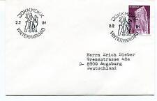 1984 JOKKMOKK VINTERMARKNAD Sverige Augsburg Polar Antarctic Cover