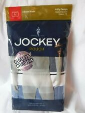 Jockey 2 Boxer Briefs Pouch Gray Blue Mix size L Large H Fly 1146
