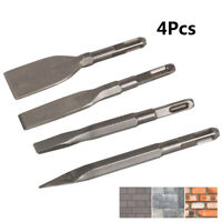 4Pcs Chisel Set Hammer Drill Flat Pointed Type Mix for Masonry Concrete 160MM