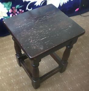 WOW! VINTAGE DESIGN! Dark Brown Wooden Coffee Table Quality! HARD WOOD