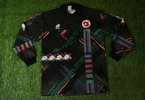 SWITZERLAND TEAM # 1 1992/1994 FOOTBALL SHIRT JERSEY GOALKEEPER LOTTO ORIGINAL