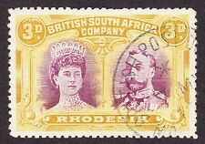 Rhodesia -BRITISH POST OFFICE ABROAD SKELETON CANCEL ON 3d 7 MY 18 -MILITARY? VF