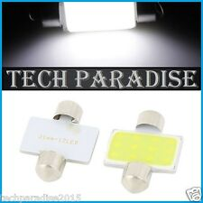 4x Ampoule Navette 31mm C3W C5W C7W C10W LED COB 12 Chips Blanc White Festoon