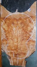 Flame Spalted Curly Maple Wood #7728 ARTIST GRADE 5A Wild BASS Guitar Top set