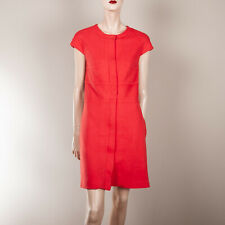 MANGO Damen Kleid S 36 Rot Etuikleid Taschen Day Work Dress Classy Style