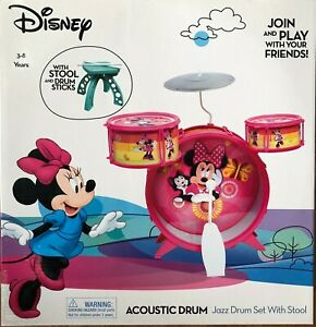 Disney Minnie Big Bang Drum set With Lights Stool Included Musical Instrument