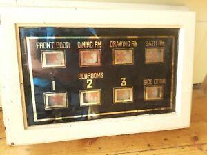 Servants bell indicator box c1930
