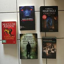 lotto 5 libri narrativa vera occasione  stefano benni carlo lucarelli
