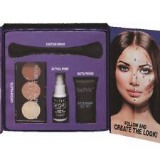 Make-up Kollektion CONTOUR KIT Grundierung+Konturpuder+Pinsel+Fixspray WoW