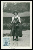 AUSTRIA MK 1950 TRACHTEN TIROL COSTUMES MAXIMUMKARTE MAXIMUM CARD MC CM h0749