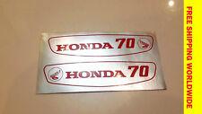 Honda Scooter 70 C70 Emblem Gas Tank NEW STICKERS Decal  Pair