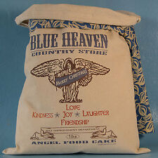AMERICANA COUNTRY STORE DECO Feedsack Love Joy Angel Food Cake FlourSack Vintage