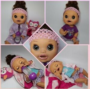 2012 Hasbro Baby Alive Real Surprises Bilingual Brunette W/ Outfits Working EUC