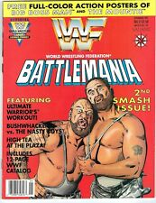 WWF BATTLEMANIA #2 WWE MAGAZINE COMIC W/POSTERS UNCIRCULATED 1991 NM