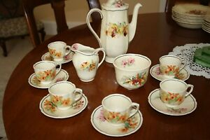 Royal Doulton Orchid Coffee Set