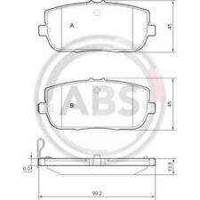 A.B.S. Original BREMSKLÖTZE BREMSBELAGSATZ Hinterachse Mazda Mx-5 37550