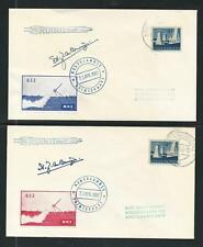 1964 NETHERLANDS rocket mail NRS 633 signed de Bruijn EZ 92C1, 92C2