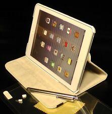 AP2W Kunst Lederhülle für Apple iPad mini Bumper Etui Cover Schutzhülle weiß