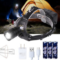 Ultra Bright XHP50 LED Hunting Headlamp 3x18650 Head Torch Lamp Searchlight Zoom