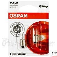 2 x OSRAM T4W 3893 Signal lamps Halogen bulbs 12V 4W BA9s Auto car Original