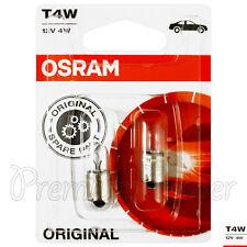 2 x Osram T4W 3893 SIGNAL Lampes Ampoules Halogène 12v 4w Ba9s AUTO ORIGINAL
