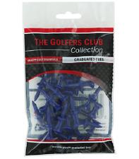 New 30 Golfers Club Blue Graduated Step Castle Golf Tees - 1.35 inch / 36mm