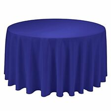 "Gee Di Moda Tablecloth - 108"" Round Table Cloth - Royal Blue Polyester Wahs"