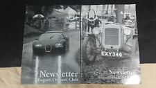 BUGATTI NEWSLETTER MAGAZINE 2 ISSUES 2007