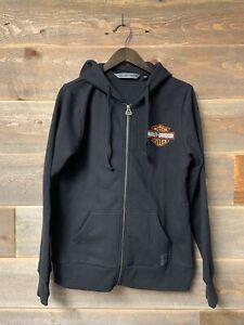 Harley Davidson NWT Logo Graphic Zip Up Hoodie Sweatshirt Size Large