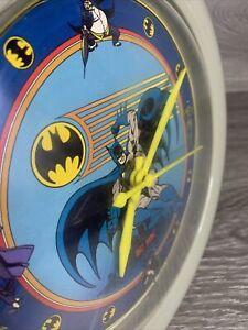 1989 DC COMICS GREY BATMAN WALL CLOCK ELECTRO OPTIC INC. 1989 #20114