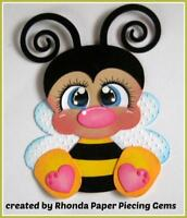 CRITTER BEE  boy girl scrapbook premade paper piecing by Rhonda