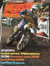 Motor Cycle Weekly Magazine - 13 August 1983 - Suzuki Katana GSX1100.