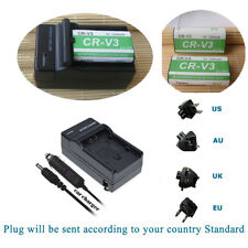 CR-V3 Battery 2 Pack +Charger for Sanyo VPC-S1 VPC-S3 VPC-S4 VPC-S5 Cameras
