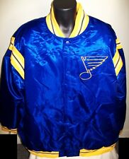 ST. LOUIS BLUES NHL STARTER Satin Jacket Traditional BLUE   Big Man's  5X 6X