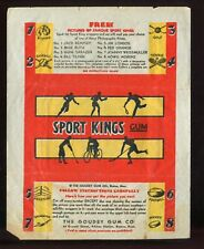 "1933 Goudey Baseball ""Sport Kings Gum"" Wax Pack Wrapper RARE #2 GD-VG"