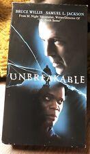 Unbreakable Bruce Willis Samuel L Jackson Thriller Vhs Movie Tape Works Fine