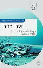 Land Law by Mark Davys, Joe Cursley, Kate Green (Paperback, 2009)
