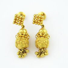 NYJEWEL 22k Solid Gold Brand New Indian Style Bridal Wedding Screw on Earrings