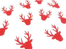 40 x Glitter Red Rudolf the Red Nose Reindeer Christmas/Xmas Table confetti