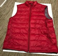 Sonoma Life + Style Dark Red and Gray Vest Size Large