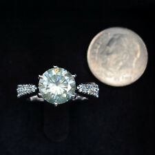 Rare Color Hawaii Estate Ring w/ Gorgeous Fire! 4.40 tcw 100% Genuine Moissanite