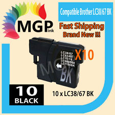 BLACK ONLY 10x generic Ink Cartridges for Brother LC38 LC67 DCP585CW 395CW