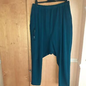 Rundholz xl drop crotch trousers. Teal Green. NWQT