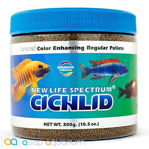 New Life Spectrum CICHLID Pellets Color Enhancing Fish Food Free USA Shipping