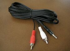 "25FT 3.5mm 1/8"" Stereo Male Plug to 2 RCA Male Audio Cable Cord MP3 PC iPod 25'"