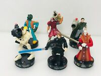 Star Wars Hasbro Lot of 6 Attacktix Battle Game Action Figures '05 Darth Vader