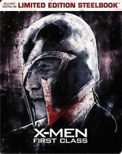 Brand New X-MEN FIRST CLASS [BLU-RAY + DIGITAL HD LIMITED EDITION STEELBOOK]