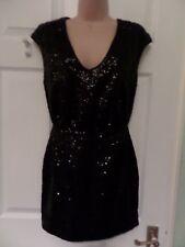 H&M sequin little black dress, UK 6 - 8, LBD,fit 8 Uk 8 /10. Party, Holiday!