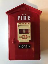 Randix FB-911 Fire Alarm Phone Novelty Push Button Telephone Call Box - Works
