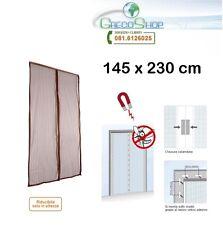 Zanzariera/Tenda con chiusura automatica a calamita/magnetica 145x230cm Marrone